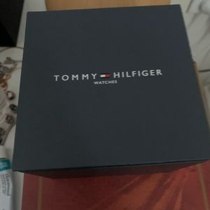 Tommy Hilfiger watch. White Rubber band.